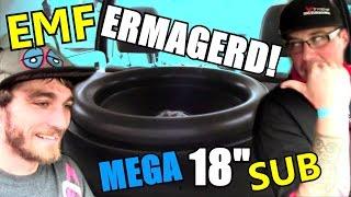 HUGE Ermagerd Subwoofer w/ Tony's Single Sundown NS1 Bass Amp | Crazy EMF Car Audio Demo