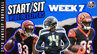 2020 Fantasy Football - Week 7 Wide Receivers - Start or Sit? Every Match Up