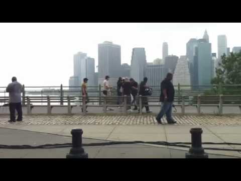 John Legend video shoot at Brooklyn Heights Promenade