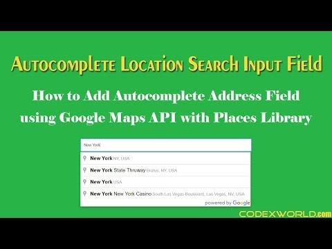 Add Autocomplete Address Field Using Google Maps JavaScript API With Places Library