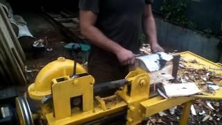 Реечный дровокол с редуктором своими руками