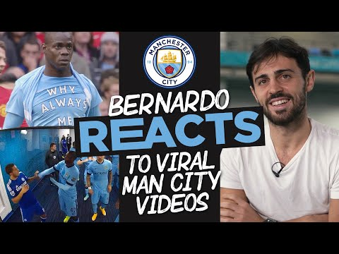 BERNARDO SILVA REACTS! | Bernardo Silva looks at famous funny Man City moments!