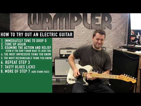 How People Try Out Electric Guitars