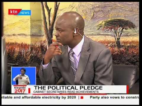 Jubilee Manifesto : Amos Kimunya and Prof. anyang' Nyong'o on studio