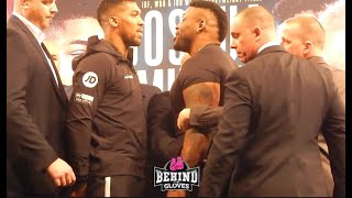 HEATED! LOOK AT BIG BABY MILLER'S SIZE VS. ANTHONY JOSHUA DURING INTENSE NYC FACE OFF