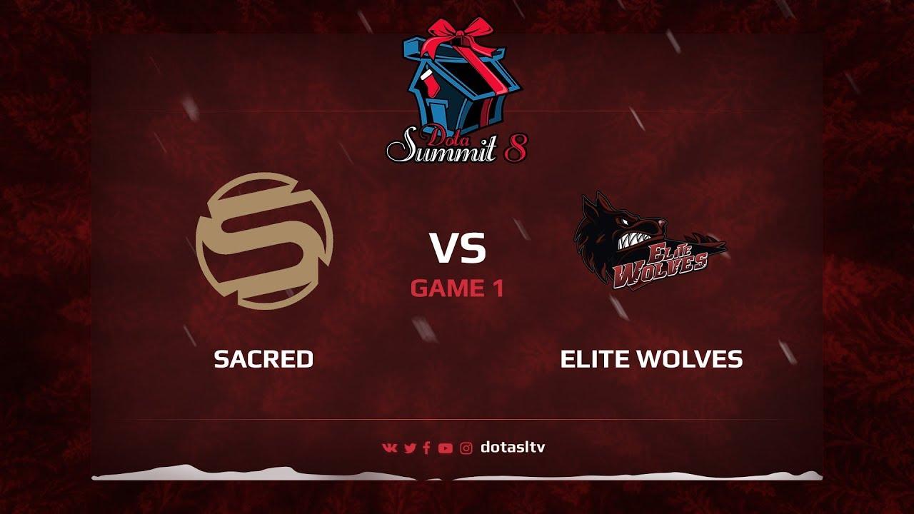 Sacred против Elite Wolves, Первая карта, Квалификация на Dota Summit 8