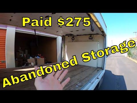 STORAGE BATTLES Public Storage Abandoned Storage Unit Paid $275!