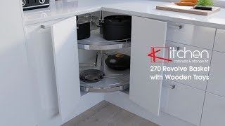 [Components] 270 Revolve Bakset with Wooden Trays for 900mm x 900mm Corner Unit