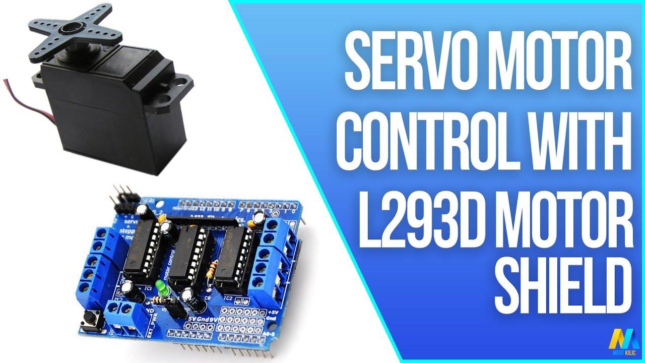 Dc 3 Pin Wiring Diagram Arduino Servo Motor Control With Motor Driver Shield L293d