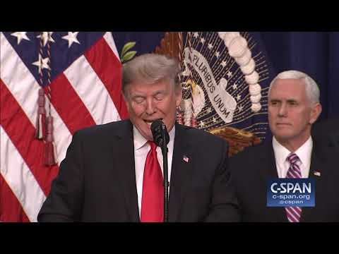 """President Trump: """"I've made my position very clear. (C-SPAN)"""