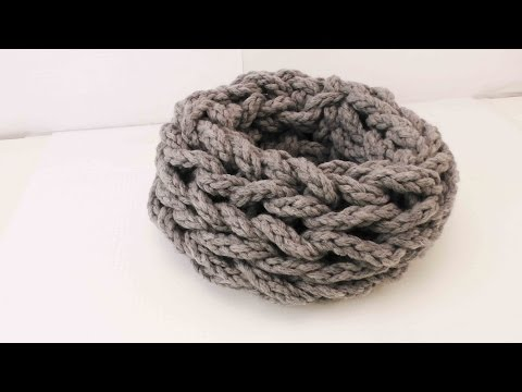 Schal Handstricken – Loop