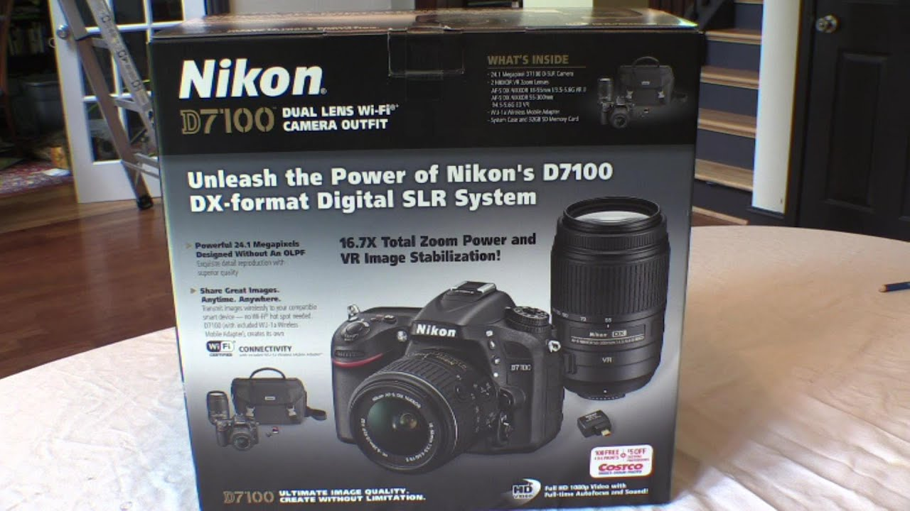 Camera Costco Dslr Camera Deals nikon d7100 unboxing costcos camera mutli lens outfit youtube outfit