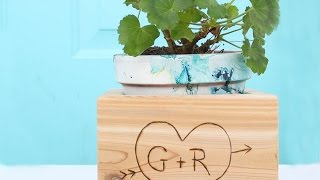 Create A Cute Cedar Initial Planter - Diy  - Guidecentral