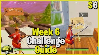 Pleasant Park + Retail Row Sheet Music & Piano Locations | S6 Week 6 Challenge Guide - Fortnite