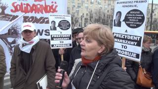 Pikieta pracowników śródmiejskich placówek pomocowych przeciwko bezprawnym zwolnieniom