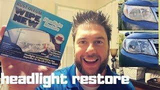 Headlight Restoration Review: headlight restore: Rustoleum Wipe New headlight restore review