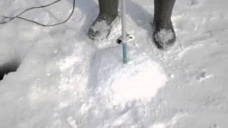 видео Электробур для рыбалки. Впечатления от электрического ледобура