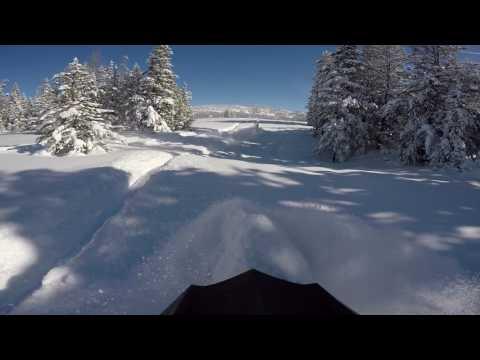 DEEP Powder Day!!  Snowmobiling In Franklin Basin Idaho!!