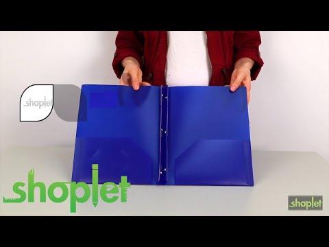 Lion 2 pocket portfolio with fastener