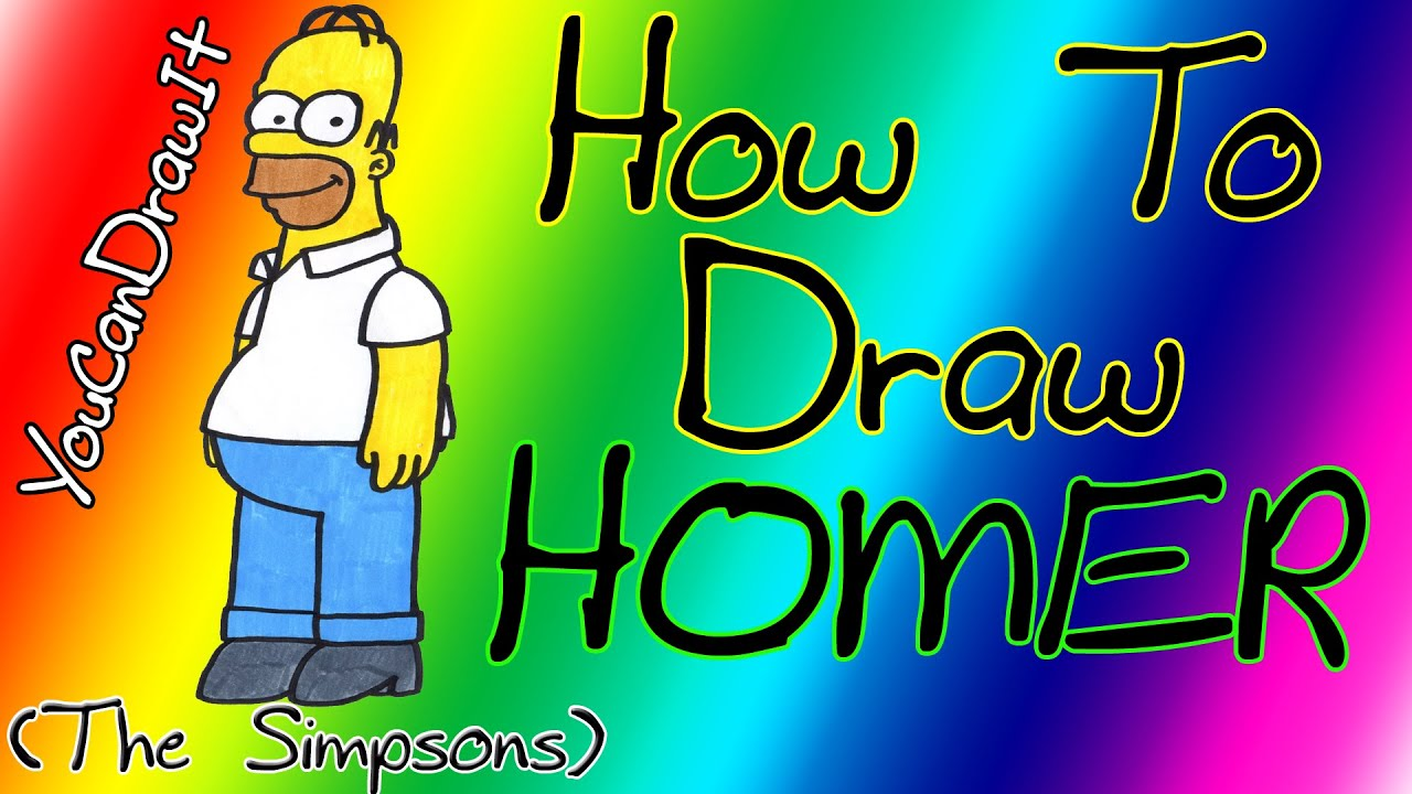Download How To Draw Homer from The Simpsons ✎ YouCanDrawIt ツ 1080p HD