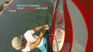 How to Clew First Heli Tack - basic windsurf moves