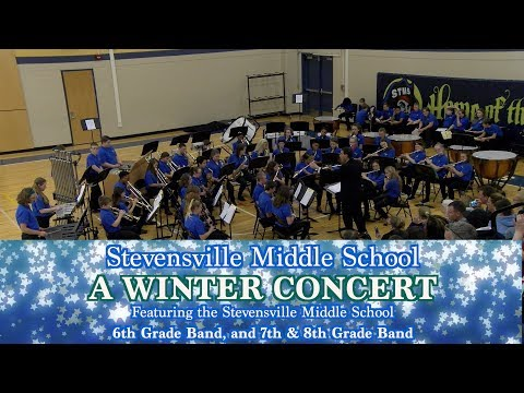 Stevensville Middle School Winter Band Concert 2018