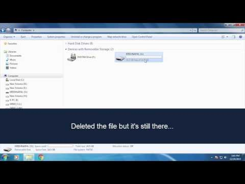 How to remove exe file virus from USB drive