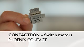 Switch motors smartly with CONTACTRON pro motor starters
