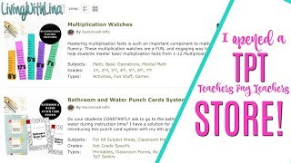 I opened a TPT store! First item listed on my Teachers Pay Teachers Store!