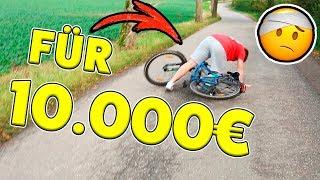 Wer ZULETZT vom FAHRRAD fällt, kriegt 10.000€ 😱 Schwerer STURZ...🤣 KRASS TipTapTube