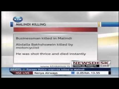 Former police reservist Ahmed Abdulla Bakhshswein shot dead in Malindi