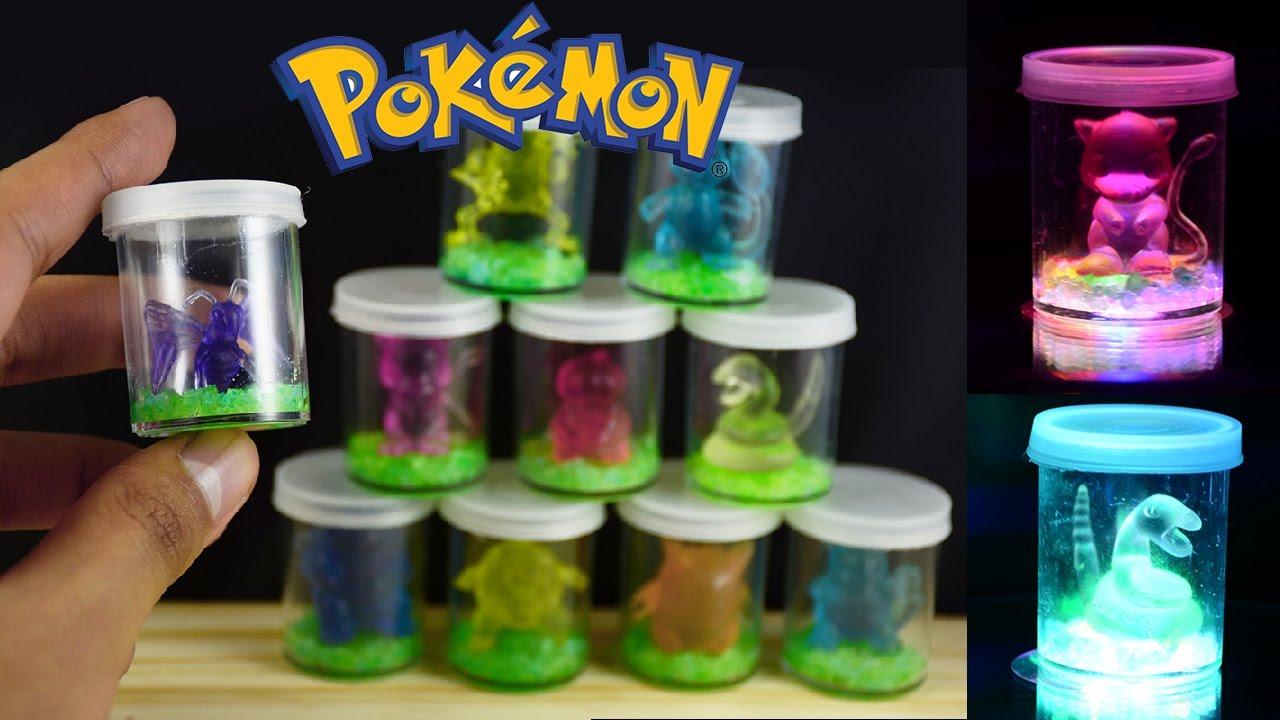 How To Make Pokemon Nightlight Led Terrarium Diy Tutorial Youtube