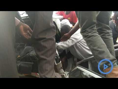 Thirteen people injured in an accident along the Nyeri  - Nyahururu highway