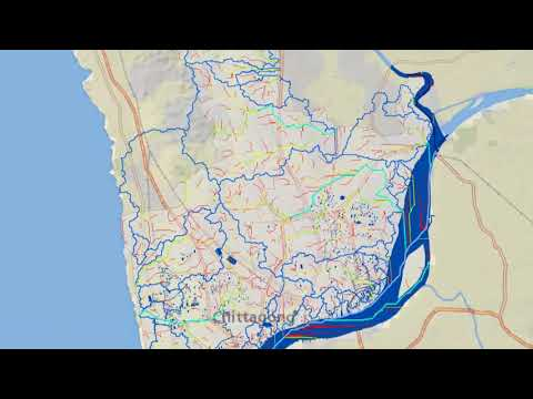 Ischrone Map to predict Flood for Chittagong City Corporation(2D Surface)