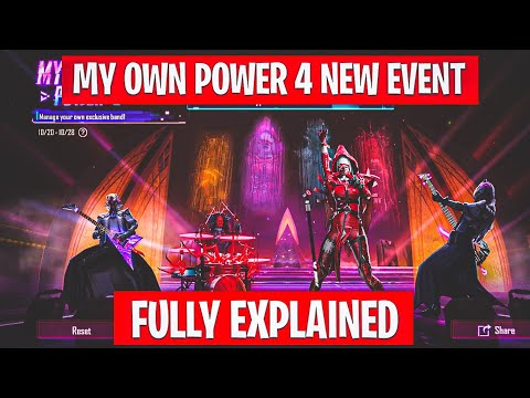 MY OWN POWER 4 NEW EVENT IN PUBG MOBILE FULLY EXPLAINED   MY OWN POWER 4 NEW EVENT REWARDS IN PUBG