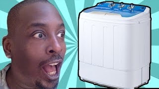 How To: Laundry  for small apartment : Merax Mini Washing Review & Demonstration