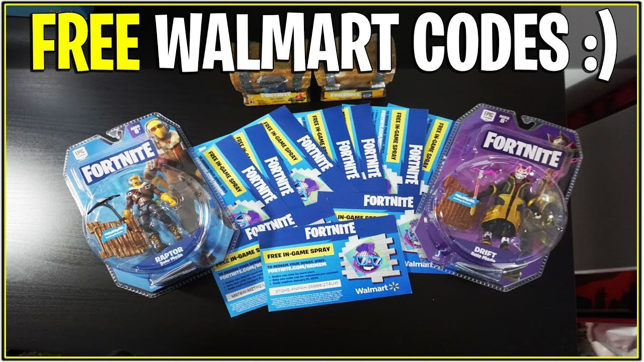 NEW* Fortnite: FREE WALMART EXCLUSIVE SPRAY CODES  ! - YouTube