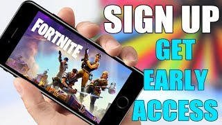Fortnite Mobile Inscrivez-vous - GET EARLY ACCESS (