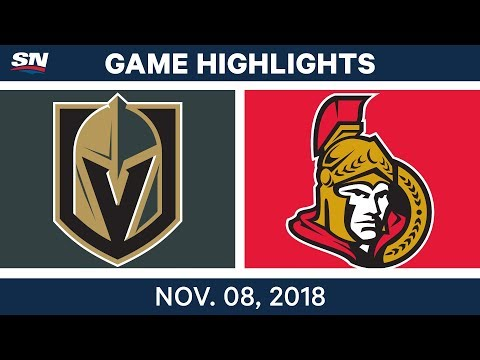 NHL Highlights | Golden Knights vs. Senators – Nov. 8, 2018