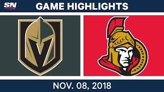 NHL Highlights | Golden Knights vs. Senators – Nov. 8, 2018