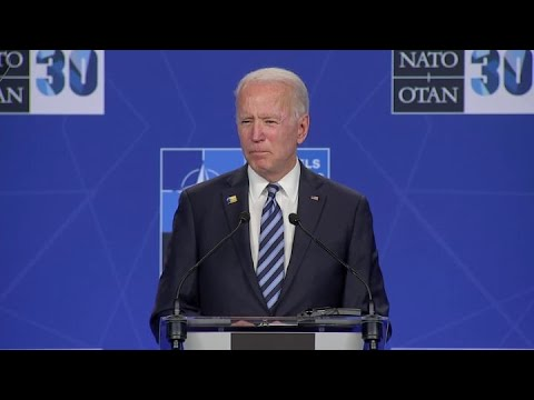 President Joe Biden delivers remarks after NATO meeting