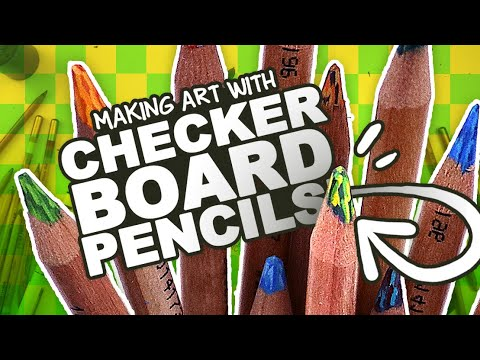 CHECKERED PENCILS! | Mystery Art Box | Paletteful Packs Unboxing