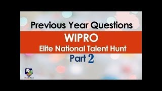 Previous Year Wipro Elite NLTH Questions Part 2 !