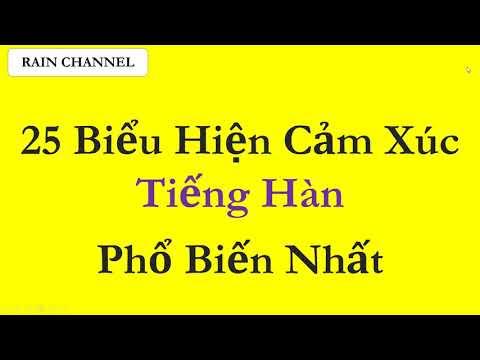Học 25 Biểu Hiện Cảm Xúc Bằng Tiếng Hàn Phổ Biến Nhất Học tiếng Hàn, Từ Vựng Tiếng Hàn Siêu Dễ