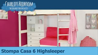 Stompa Casa 6 Highsleeper Bed - Charlies Bedroom