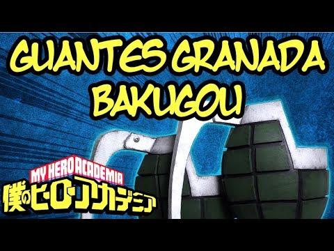 GUANTES GRANADA de BAKUGOU | Boku No Hero Academia | DIY Te Digo Cómo