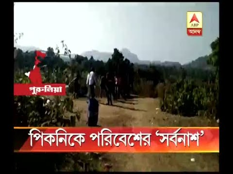 Pollution due to picnic in various places in Purulia