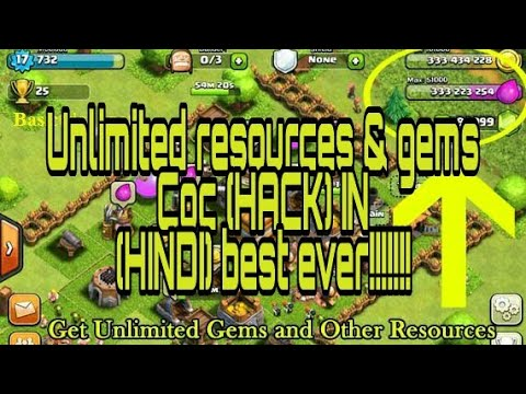 How To Get Infinite Gems With Resources In Clash Of Clans Best HACK MOD APK!!!!!! (HINDI/urdu)