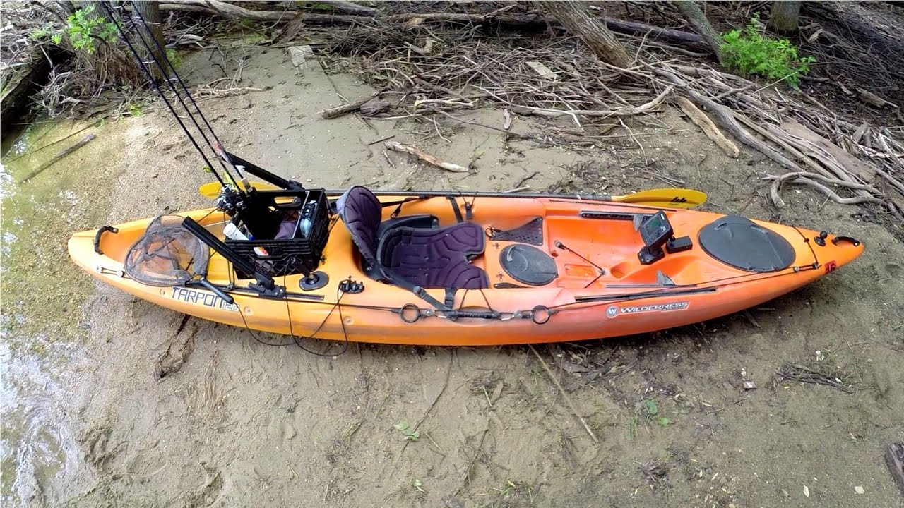 Kayak setup 2014 youtube for Fishing canoe setup