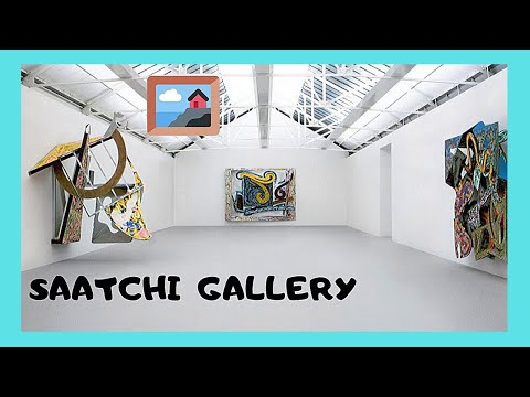 Magnificent and famous Saatchi Gallery, a tour (London, England)